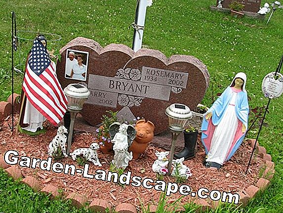 Make grave decoration yourself - ideas with gravel and stones
