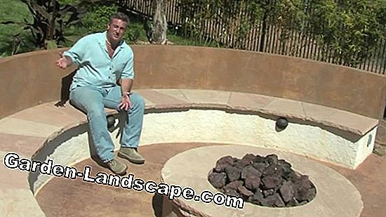Framing fire pits in the garden