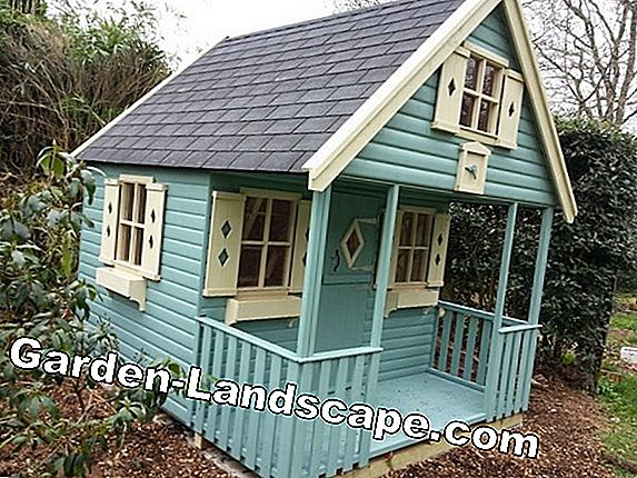 Playhouse for children in the garden