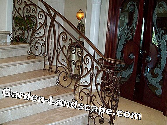 For replanting: Decorative garden staircase