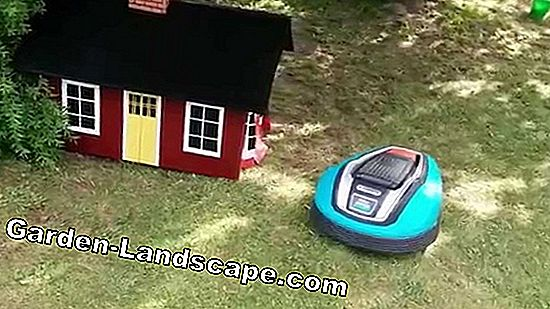A garage for the robotic lawnmower
