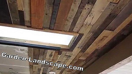 Ceiling covering made of wood or plastic (styrofoam)