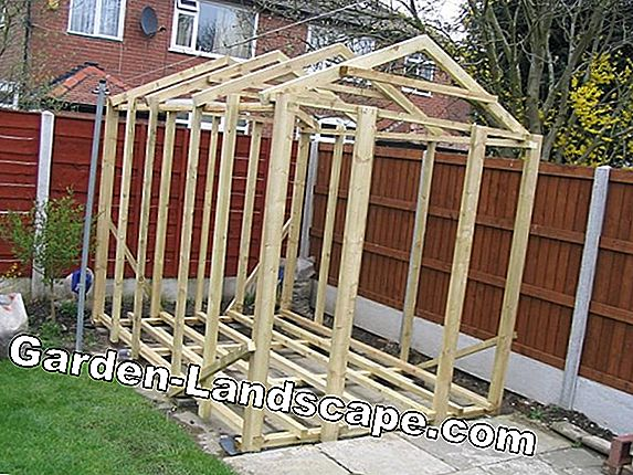 Build firewood shelter yourself - a construction manual