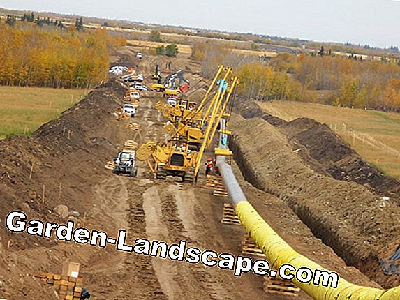 Lay natural gas pipeline in the kitchen