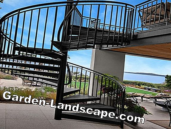 Spiral stairs for outside
