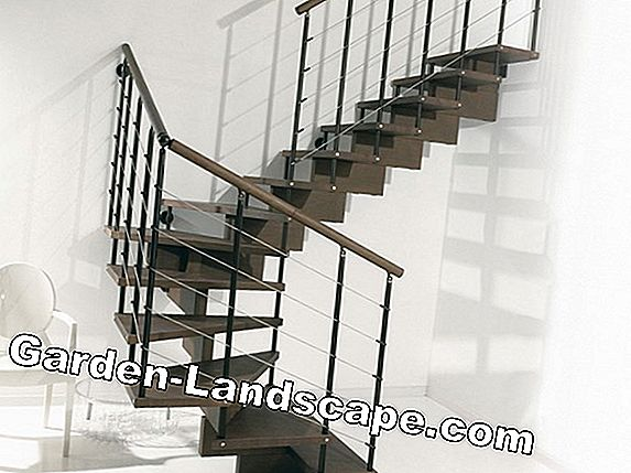 Spiral staircase made of wood, steel