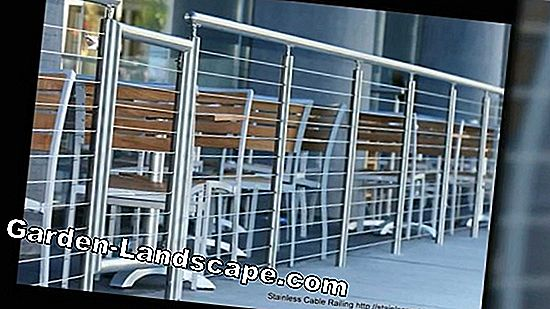 Stair railing made of stainless steel