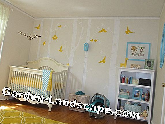 Wall design in the nursery - Which color to use?