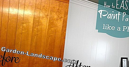 Apply wood paneling to wall & paint
