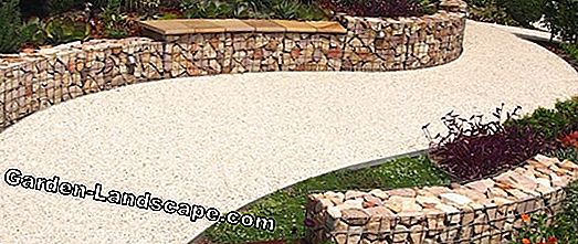 Raised bed of stones, gabions - instructions