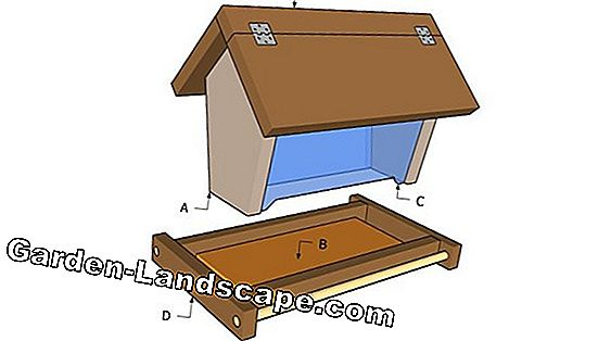 Building instructions: bird feeder house, feed house