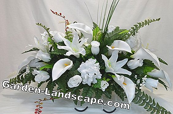 Grave arrangement y Grabstrauss make yourself - instructions