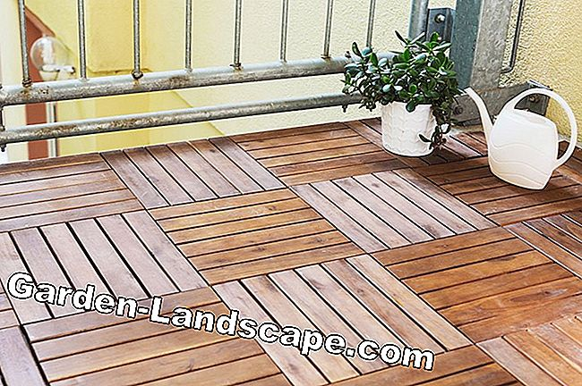 Lay wooden balcony tiles - Instructions & Tips