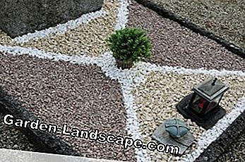 Grave design with gravel