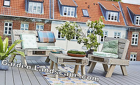 Outdoor furniture made of europallets