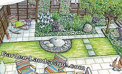 Design proposal cozy garden room in pastel