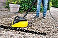Clean gravel area with high-pressure cleaner