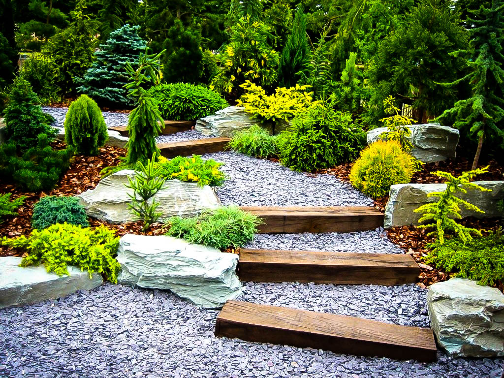 Ideas for landscaping with gravel and stones