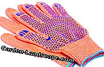 Fabric gardening gloves