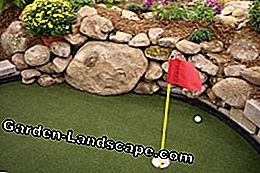 Minigolf is also available for the garden