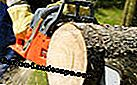 Working safely with the chainsaw: working